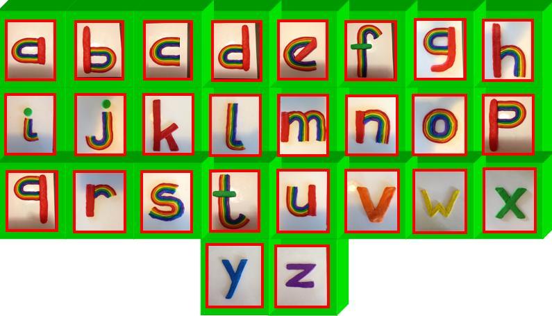 Dimensionaal RegenboogAlfabet