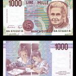 Maria Montessori op 100 Lire biljet