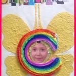 RegenboogCitroenvlinder met rand